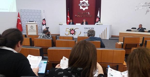 """İSO, """"Türkiye'nin 500 Büyük Sanayi Kuruluşu-2018"""" araştırmasını açıkladı"""