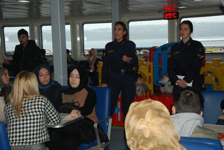 İDO Eskihisar-Topçular hattında kadına şiddete hayır semineri