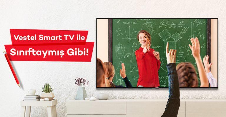 """Vestel Smart TV'ler"""" ile """"EBA'ya erişim ve Uzaktan Eğitim Kolaylığı"""""""