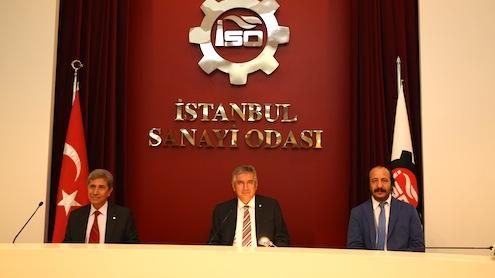 """İstanbul Sanayi Odası Yönetim Kurulu Başkanı ErdaL Bahçıvan, """"Türkiye'nin 500 Büyük Sanayi Kurulu"""" raporu açıkladı. Birinci sırada 40 milyar 118 milyon TL üretimden satış rakamıyla Tüpraş birinci sırada yer aldı. Tüpraş'ı, 8 milyar 164 milyon TL ile Ford Otomotiv, 7 milyar 529 milyon TL ile Oyak Renault izledi."""