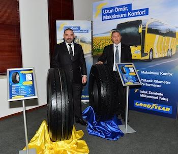 GoodyearTürkiye Ticari Lastikler Direktörü Mahmut Sarıoğlu ve Mahmut Uslu