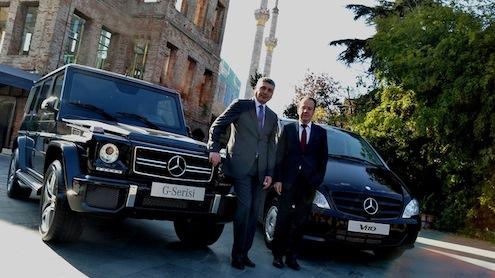 Mercedes-Benz Türk Direktörler Kurulu Başkanı Rainer Genes ile Pazarlama & Satış Direktörü Süer Sülün
