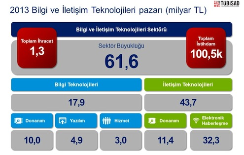 BIT sektörü 2013 pazar verisi
