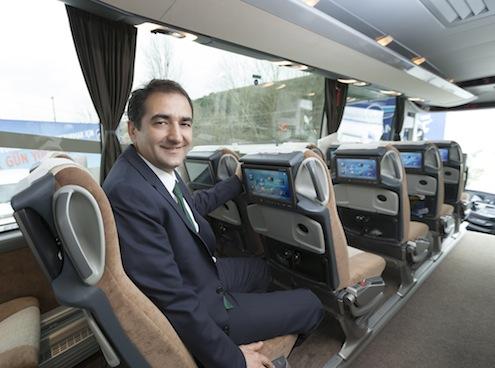 Kamil Koç Otobüsleri A.Ş. Genel Müdürü Kemal Erdoğan: Ramazan Bayramı nedeniyle yaklaşık 7 milyon kişi otobüsle seyahat edecek ve her 10 kişiden birine Kamil Koç hizmet verecek.