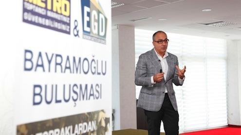 Bayramoğlu Buluşması'nda Metro Cash & Carry Türkiye Genel Müdürü Kubilay Özerkan da Coğrafi İşaretli Ürünlerin pazardaki yükselişi ile ilgili olarak ekonomi gazetecilerini bilgilendirdi.