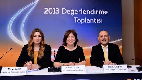 Visa Europe Türkiye'nin 2013 yıllık sonuçları, Visa Europe İcra Direktörü Mark Antipof, Visa Europe Bölge Genel Müdürü Berna Ülman ve Visa Europe Türkiye Ülke Müdürü Merve Tezel'in katılımıyla düzenlenen bir basın toplantısı ile duyuruldu.