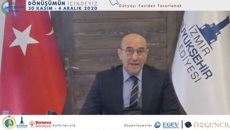 Tunç Soyer, Ege Ekonomik Forum'da konuştu: Hedef, İzmir'deki imkanları yeni bir ekonomik vizyonla büyütmek