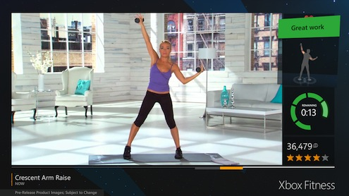 Xbox Fitness Screen