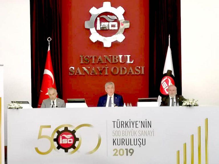 """İSO, """"Türkiye'nin 500 Büyük Sanayi Kuruluşu-2019"""" araştırmasını açıkladı"""