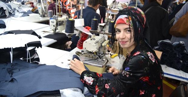 Tekstilin olduğu yerde işsizlik sorunu azalıyor