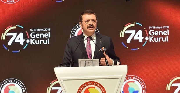 Hisarcıklıoğlu yeniden TOBB Başkanı