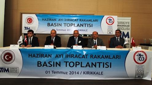 TİM Yönetim Kurulu Üyesi Ahmet Güleç, TİM Başkan Vekili Mustafa Çıkrıkçıoğlu, TİM Başkanı Mehmet Büyükekşi, Kırıkkale Valisi Ali Polat.