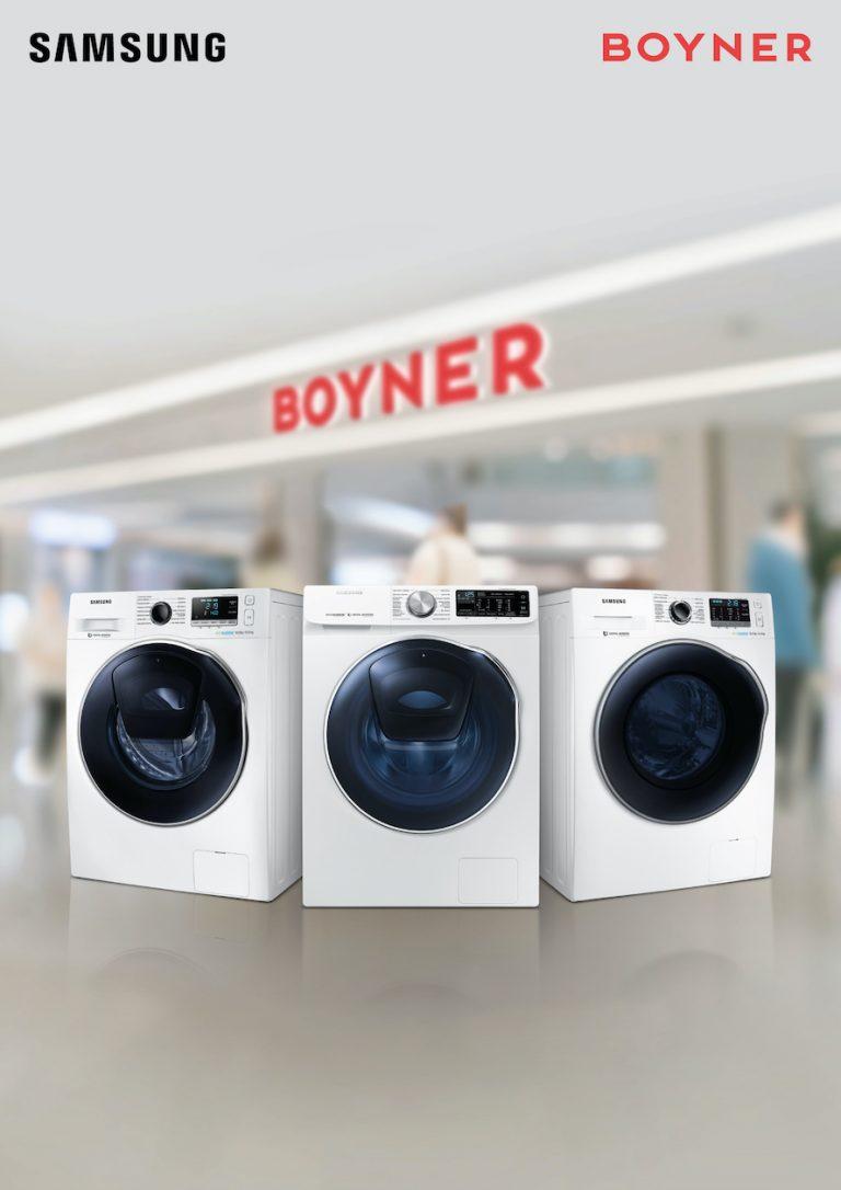 Seçili Samsung kurutmalı çamaşır makineleri Boyner'den hediye çeki kazandırıyor!