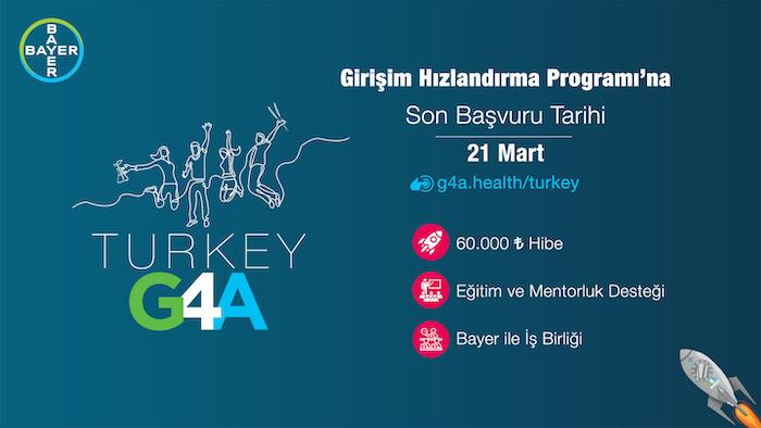 Bayer'in düzenlediği G4A Turkey 2021'e başvurular devam ediyor
