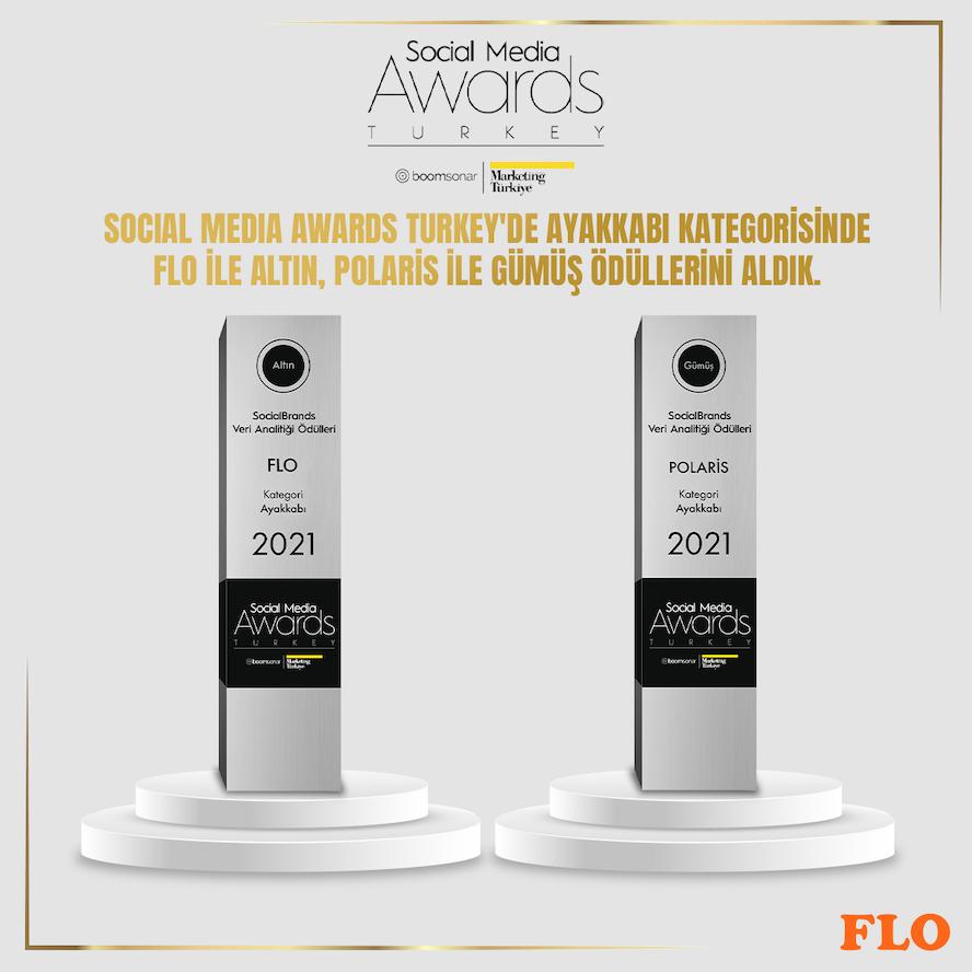 <strong>Ayakkabı devi FLO, Social Media Awards'tan iki ödül birden aldı</strong>
