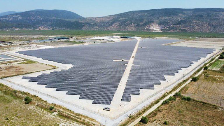 Muğla'da 20.17 MWp'lik lisanslı GES projesinin güneş panelleri HT Solar'dan