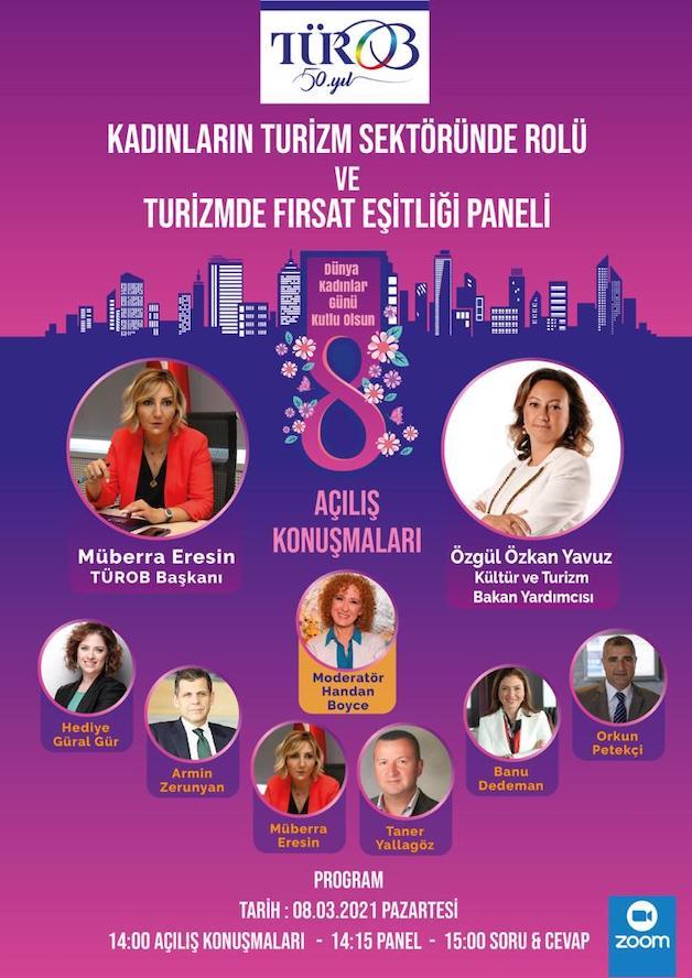 TÜROB'dan Kadınların Turizm Sektöründeki Rolü ve Turizmde Fırsat Eşitliği paneline davet
