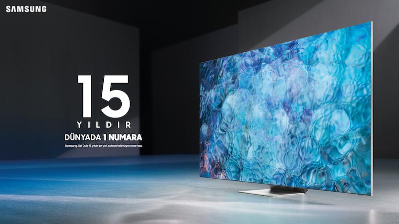 <strong>Samsung'un 15 yıldır dünyada 1 numaralı TV üreticisi olduğu açıklandı</strong>