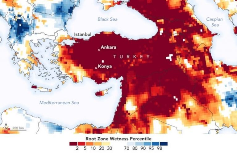 NASA KURAKLIK RAPORU: Türkiye'nin yer altı su rezervleri ortalama altında